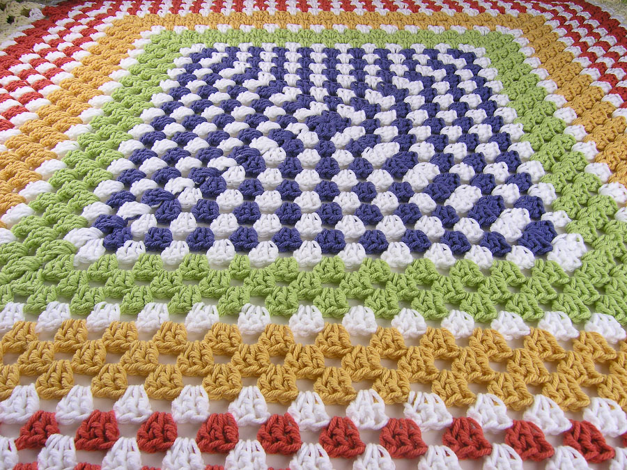 Crochet Square Patterns Crochet Granny Square Afghan