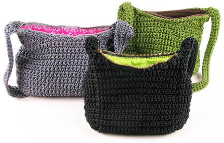 Crochet Nylon Purses by Carrie Wolf