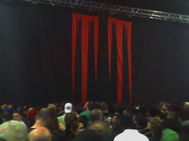 waiting for Marilyn Manson