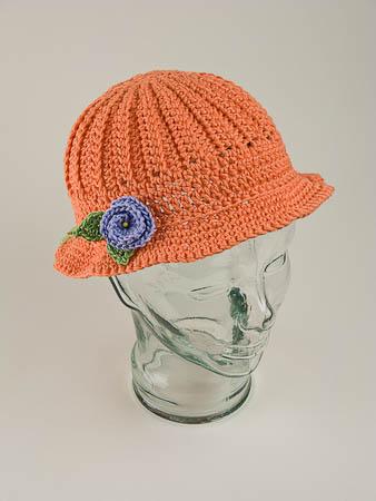 Peach Crochet Sunhat
