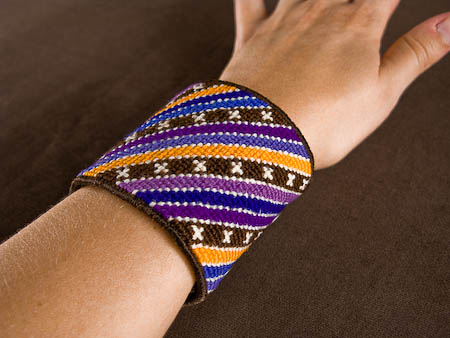 New modern needlepoint cuff stripe pattern
