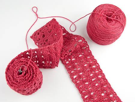 cinnamon merino wool crochet scarf