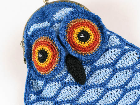 Crochet Blue Owl Purse