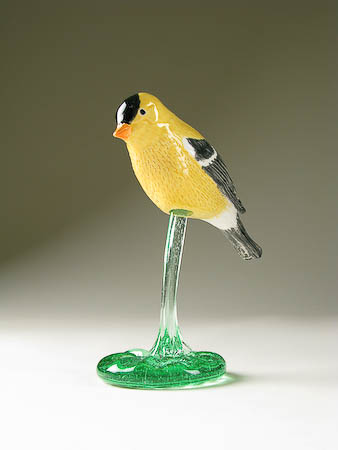 Pottery Song Bird American Goldfinch