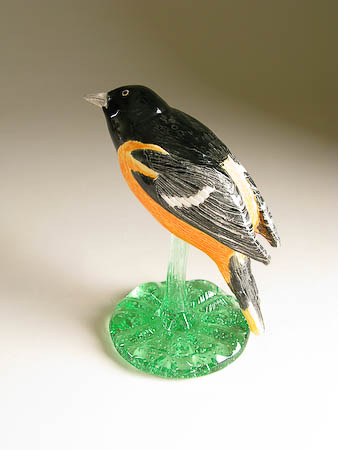 Pottery Song Bird Baltimore Oriole