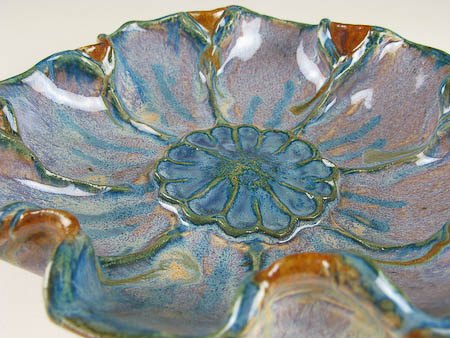 Carrie's first pottery flower bowl