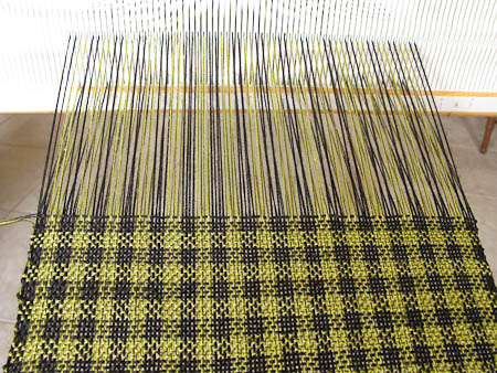 Rigid heddle weaving pattern for Bamboo weaving tutorial