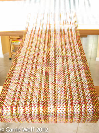 Carrie Wolf - Rigid Heddle Weaving Pattern - Silver Birch Trees in Autumn Scarf