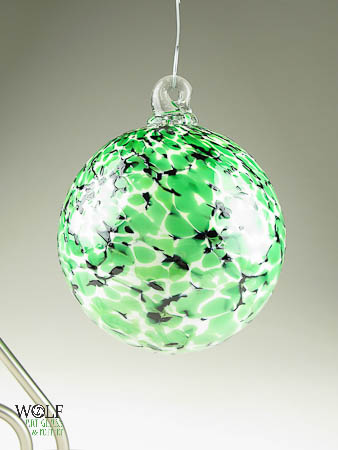 Blown Glass Ornament Suncatchers by WolfArtGlass