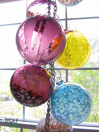 Wolf Art Glass Blown glass ornament suncatchers