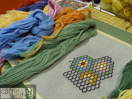 Carrie Wolf Needlepoint, Honeycomb 1 Design