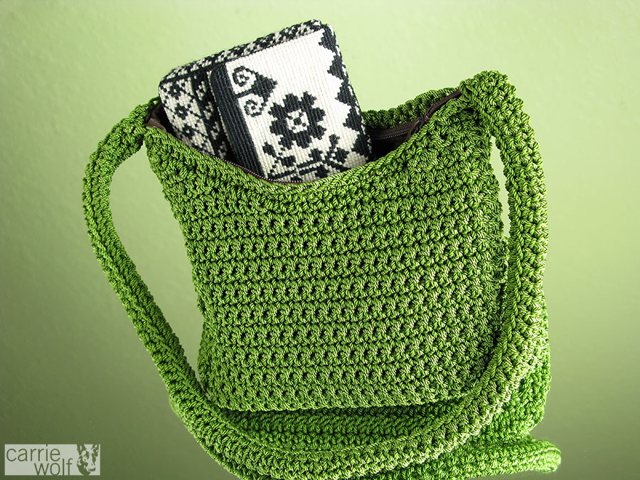 my favorite leather purse and created a template for me to crochet